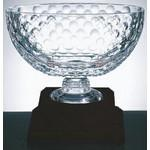 Royal Golf Bowl on a Black Base - Italian Lead Crystal Custom Imprinted
