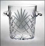 "Raleigh Ice Bucket - Lead Crystal (8 1/4""x7 1/4"") Logo Branded"