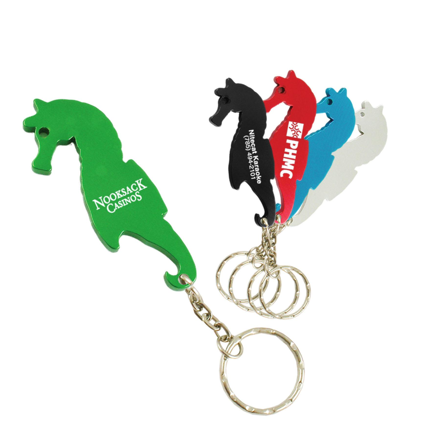 sea horse bottle opener w key ring custom imprinted brava. Black Bedroom Furniture Sets. Home Design Ideas