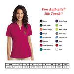 Logo Branded Port Authority Ladies Silk Touch Performance Polo