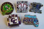 "1"" Die Struck Iron Soft Enamel Lapel Pin (Large Quantity) Personalized"