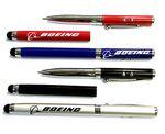 Logo Branded Metal Pen with Laser Pointer, LED Light & Stylus