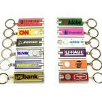 Mini Flash Light with Super Bright LED & Swivel Key Chain Logo Branded