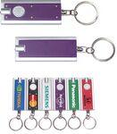 Mini Flash Light with Super Bright LED & Swivel Key Chain (Purple) Personalized
