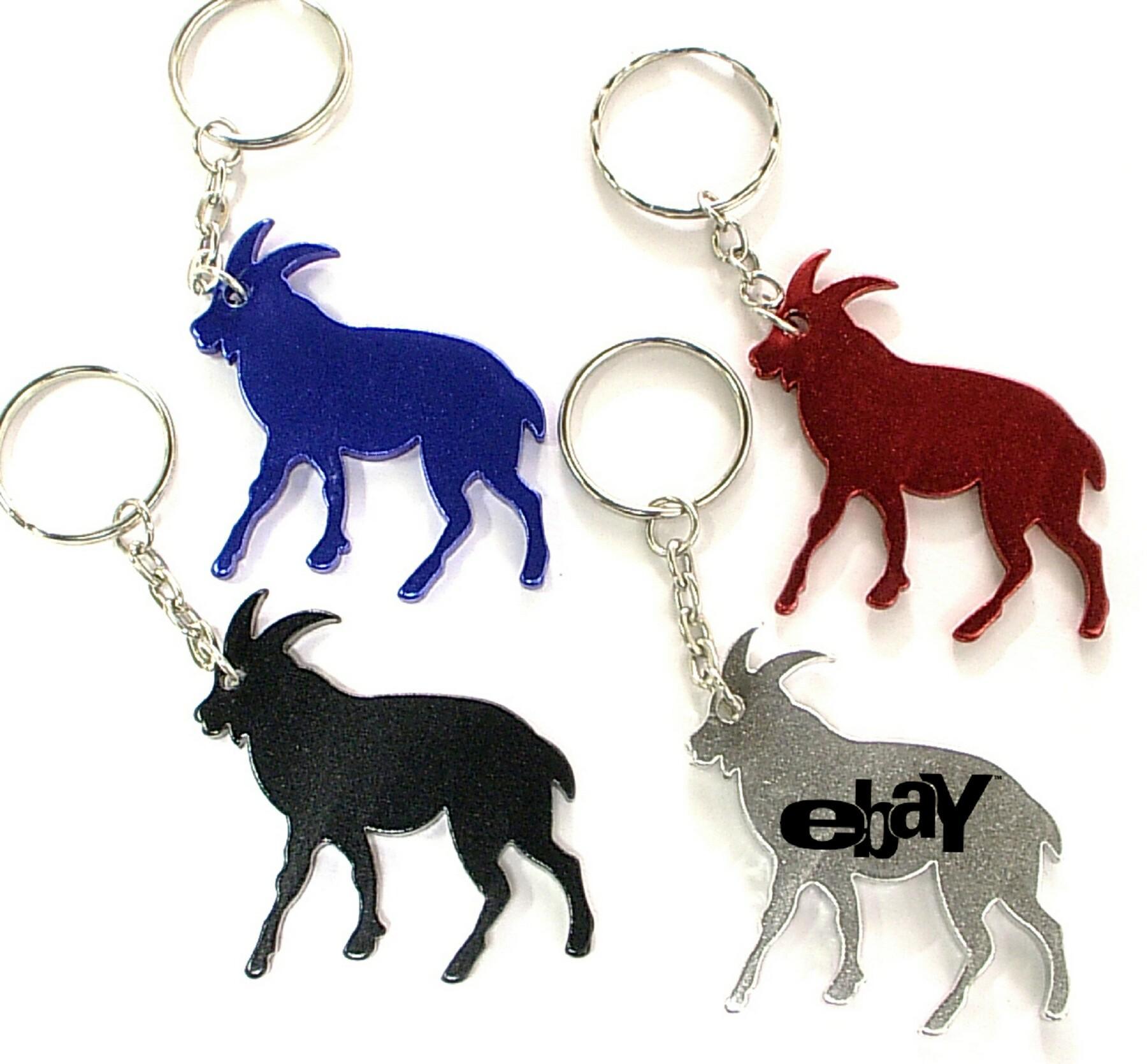 goat shape bottle opener with key chain logo branded brava. Black Bedroom Furniture Sets. Home Design Ideas