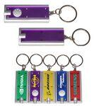 Slim Rectangular Flashlight with Swivel Key Chain (Translucent Purple) Personalized