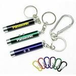 Dual Laser Pointer/ Super Bright LED Light with Keychain and Carabiner Logo Branded