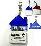 Custom Imprinted House Shaped Tool Kit with 4 Steel Bits and Keychain