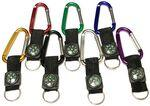 Large Size 7 Cm Carabiner with Compass Custom Printed