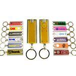 Mini Flash Light with Super Bright LED & Swivel Key Chain (Gold) Custom Printed
