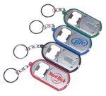Custom Imprinted Ultra Thin Flashlight w/ Metal Bottle Opener & Deluxe Swivel Split Key Ring