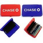 Custom Imprinted Pocket Size Credit and Business Cards Case / Wallet