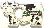 Jumbo Size Cow Shape Magnetic Bottle Opener Custom Imprinted