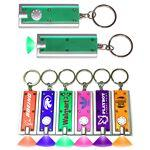 Slim Rectangular Flash Light with Colorful Light - Green Custom Imprinted