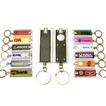 Personalized Mini Flash Light with Super Bright LED & Swivel Key Chain (Black)