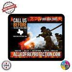 "Custom Imprinted Full Color Dye Sublimation Rectangular Shaped Premium Rubber Mouse Pads (9""x7-1/8"")"
