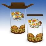 28oz-Reusable Clear Plastic FoldTop® Containers Custom Printed