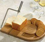 Custom Engraved Bamboo Wire Slice Cheese Set