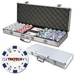 Poker chips set with aluminum chip case - 500 Dice chips Custom Imprinted