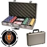 Promotional Poker chips set with aluminum chip case - 300 Full Color 8 Stripe chips