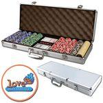 Customized Poker chips set with aluminum chip case - 500 Full Color chips