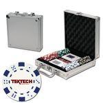 Promotional Poker chips set with aluminum chip case - 100 Dice chips