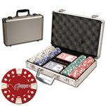 Poker chips set with aluminum chip case - 200 Diamond chips Custom Personalized