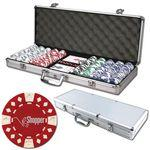 Personalized Poker chips set with aluminum chip case - 500 Diamond chips