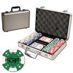 Poker chips set with aluminum chip case - 200 Card chips Custom Personalized