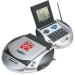 Custom Printed Multi Function FM Scanner Radio w/ World Time Alarm Clock