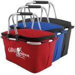 "Custom Printed Insulated Picnic Basket (17""x9 1/2""x9 1/2"")"