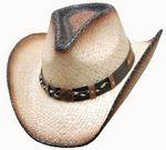 Western Palm Hat with Pinch Front Personalized
