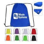 Large Non-Woven Drawstring Backpack Custom Imprinted