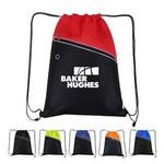 Non-Woven Two-Tone Drawstring Backpack