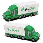 Green and White Semi-Truck Stress Reliever Custom Printed
