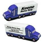 Blue and White Semi-Truck Stress Reliever Logo Branded