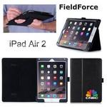 Logo Printed FieldForce iPad Air 2 Case w/Recessed Hand Strap and Pen/Stylus Loop