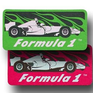 Race Car Paper Air Freshener / Double Sided