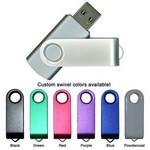 Custom Imprinted High Speed USB 2.0 Swivel Twister Flash Drive (2GB)