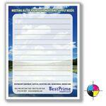 "High Quality Notepad! 4 1/8"" x 5 1/2"" Full-Color Notepads - 15 Sheets Custom Imprinted"