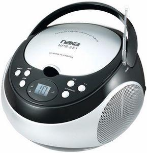 Logo Printed Naxa - Portable CD Player with AM/FM Radio (Black)