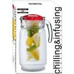 64 oz Chiller & Infuser Glass Pitcher Custom Imprinted
