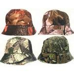 Camouflage Bucket Hats Assorted Logo Printed