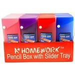 Logo Branded Pencil Box - Slider with Button Closure