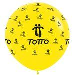 Logo Branded 3' Giant Crystal Color Balloons (All over Print 360°)