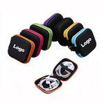 Custom Printed Square Ear Buds Case Storage Pouch Earphone Box Headset Bag