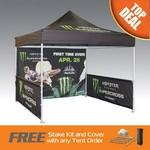 Custom Imprinted Summer Special Price: Bundle 10x10 Promo Tent w/walls & Rail skirts