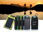 Logo Branded 5000mah Dual-USB Solar Power Bank Battery Charger
