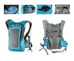 Solar Charger Panel Backpack with 2L Hydration Pack and Ergonomic Carrying System Imprinted Logo