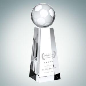 Championship Soccer Optical Crystal Award (Large)